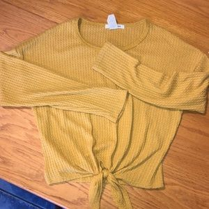 Yellow colored crop top